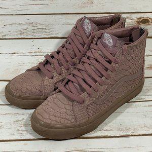 """Purple Sk8-Hi Zip """"Croc Leather"""" Vans"""